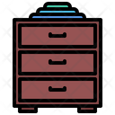 Chest Drawers Furniture Icon