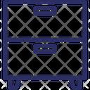 Drawers Cupboard Cupboard Drawers Icon