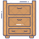 Drawers Cabinet Side Table Icon