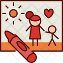 Drawing Crayon Family Icon