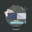 Drawing Book Ruler Icon
