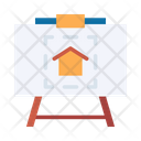 Drawing Board Home Planning Home Plan Icon