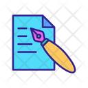 Drawing Copywriting Icon