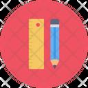Ruler Scale Pencil Icon