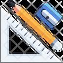 Drawing Tool Set Square Pencil Icon