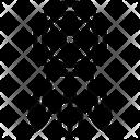 Native American Line Icon Linear Outline Graphic Illustration Icon