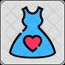 Valentine Day Heart Dress Icon