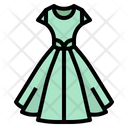 Dress Feminine Skirt Icon