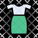 Dress Ladies Garments Icon