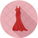 Dress Gown Lady Icon