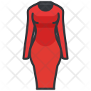 Fitted Dress Long Icon