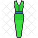 Dress Long Fitted Icon