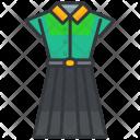Dress Shirt Skirt Icon