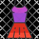 Top Dress Skirt Icon