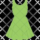 Strap Dress Green Icon