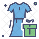 Dress And Gift Box Icon