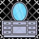 Mirror Dressing Drawer Icon