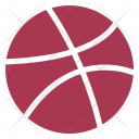 Dribbble Dribble Ball Icon