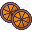 Dried Fruit Oranges Smell Icon