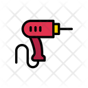Drill Machine Construction Icon