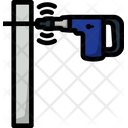 Drill Wall Work Icon