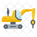 Drill Machine Excavator Icon
