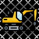 Drill Machine Excavator Icon