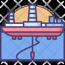 Drill Ship Drill Drilling Ship Icon