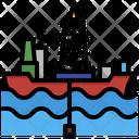 Drill Ship Icon