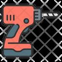 Driller Drill Machinery Icon