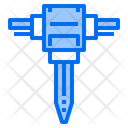 Driller Tool Construction Icon