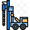Drilling Drilling Truck Construction Icon