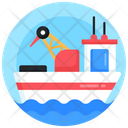 Drilling Boat Icon