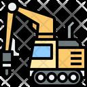 Drilling Drilling Excavator Construction Icon