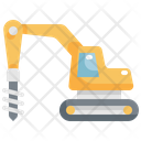 Drilling Machine Vehicle Icon