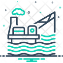 Drilling Rig Platform Exploration Icon
