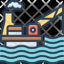 Drilling Rig Platform Exploration Icon