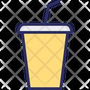 Drink Glass Glass With Straw Icon