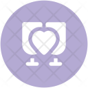Drink Heart Sign Icon