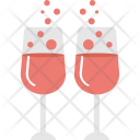 Wine Hearts Beverage Icon