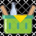 Gbasket Basket Bottles Icon