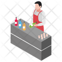 Drink Corner Food Stall Food Court Icon