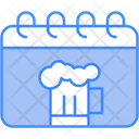 Drink Day Beer Calendar Icon