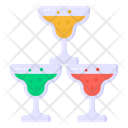 Tower Of Glasses Wine Glasses Alcoholic Beverage Icon
