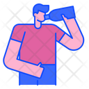 Drink Water Drinking Healthy Life Icon