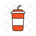 Drink With Straw Cold Drink Take Away Cup Icon