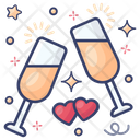 Cheers Wine Glasses Alcoholic Beverage Icon