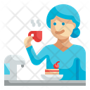 Drinking Coffee Icon