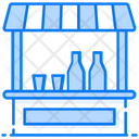 Drinks Kiosk Drinks Shop Drink Stall Icon