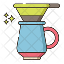 Drip Brew Coffee Dripper Filter Icon